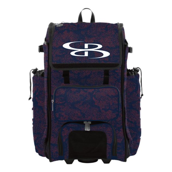 Rolling Catcher's Superpack Bat Bag Shadow Navy/Red