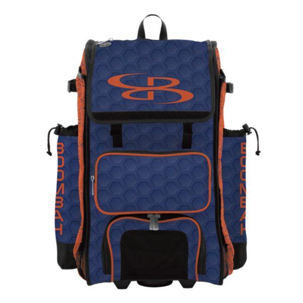 Rolling Catcher's Superpack Bat Bag 3DHC Royal/Orange