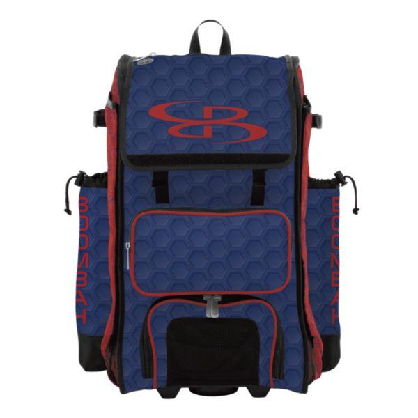 Rolling Catcher's Superpack Bat Bag 3DHC Royal/Red