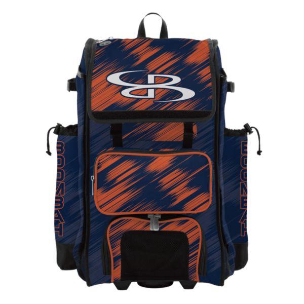 Rolling Catcher's Superpack Bat Bag Scratch Navy/Orange