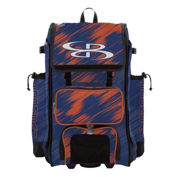 Rolling Catcher's Superpack Bat Bag Scratch Royal/Orange