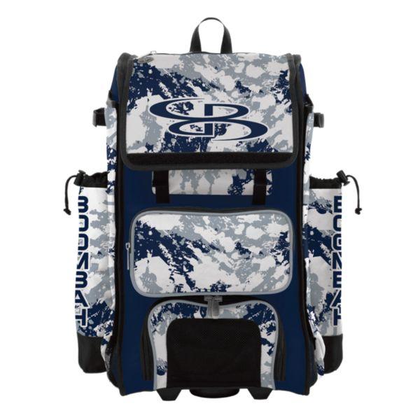 Rolling Catcher's Superpack Bat Bag Rocket Navy/Gray/White