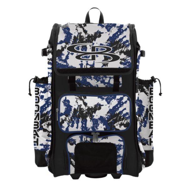 Rolling Catcher's Superpack Bat Bag Rocket Royal/Black/White