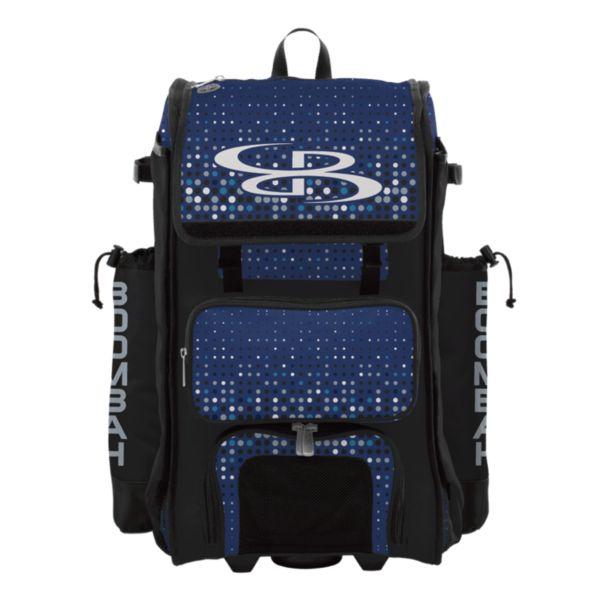Rolling Catcher's Superpack Bat Bag Spotlight Black/Royal/White