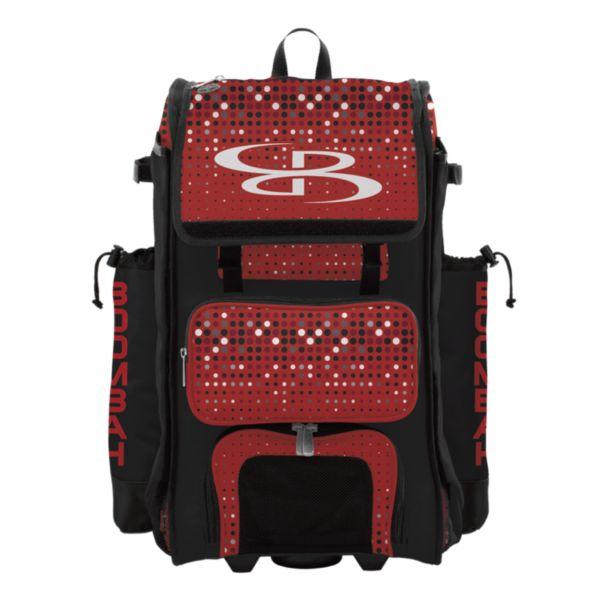 Rolling Catcher's Superpack Bat Bag Spotlight Black/Red/White