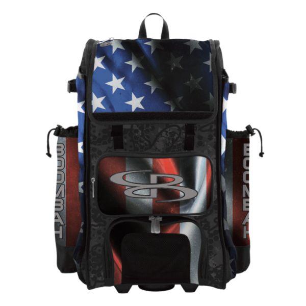Rolling Catcher's Superpack Bat Bag USA Black Ops Black/Royal Blue/Red