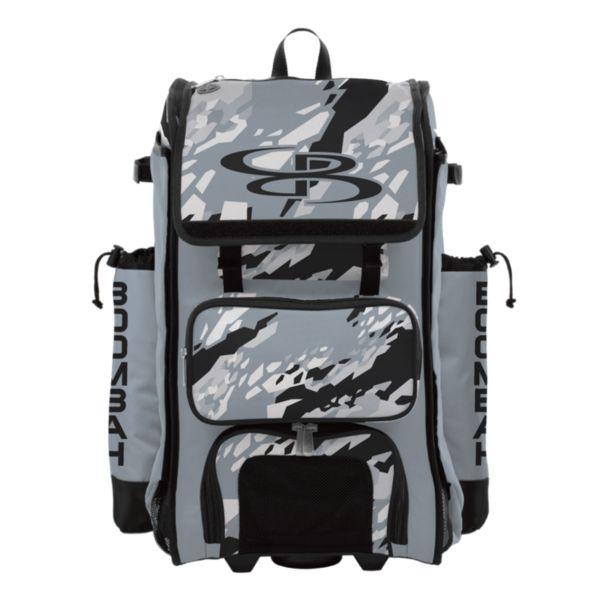 Rolling Catcher's Superpack Bat Bag Hexfire Black/Gray/White
