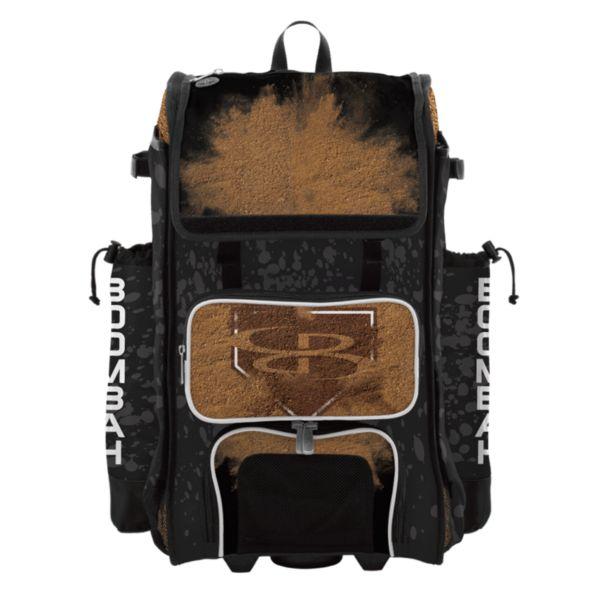 Rolling Catcher's Superpack Bat Bag Diamond Black/White