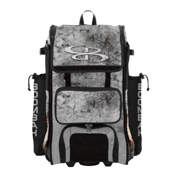 Rolling Catcher's Superpack Bat Bag Crusher Black/Gray/White