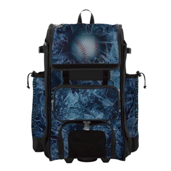Rolling Catcher's Superpack Bat Bag Frozen Black/White