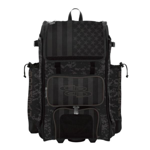 Rolling Catcher's Superpack Bat Bag USA Clandestine Black/Dark Charcoal