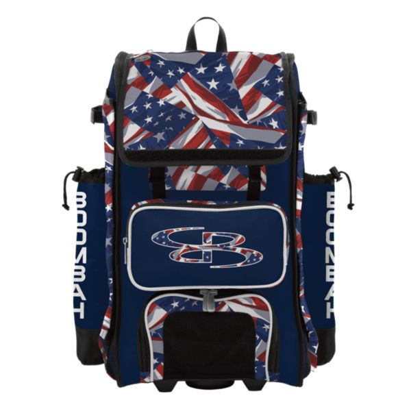 Rolling Catcher's Superpack Bat Bag USA Independence Navy/Red/White