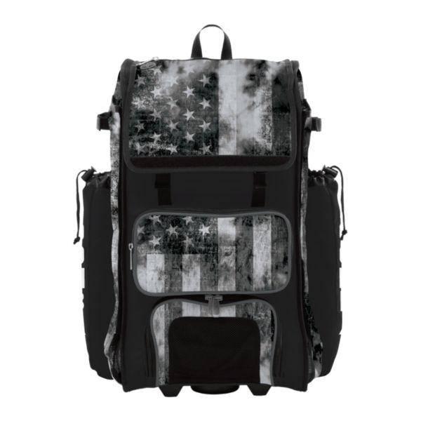 Rolling Catcher's Superpack Bat Bag USA Old Glory Black Ops Black/Charcoal/White