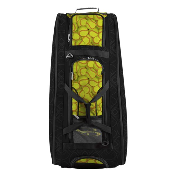 Rolling Beast Bat Bag 2.0 Softball Black/Optic Yellow/Red