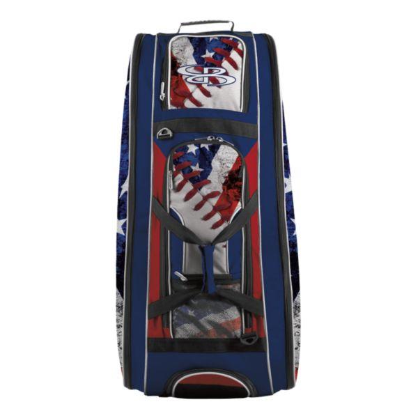 Rolling Beast Bat Bag 2.0 USA Baseball Royal Blue/Red/White