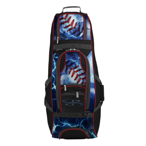 Spartan Rolling Bat Bag 2.0 The Natural Black/Red/White