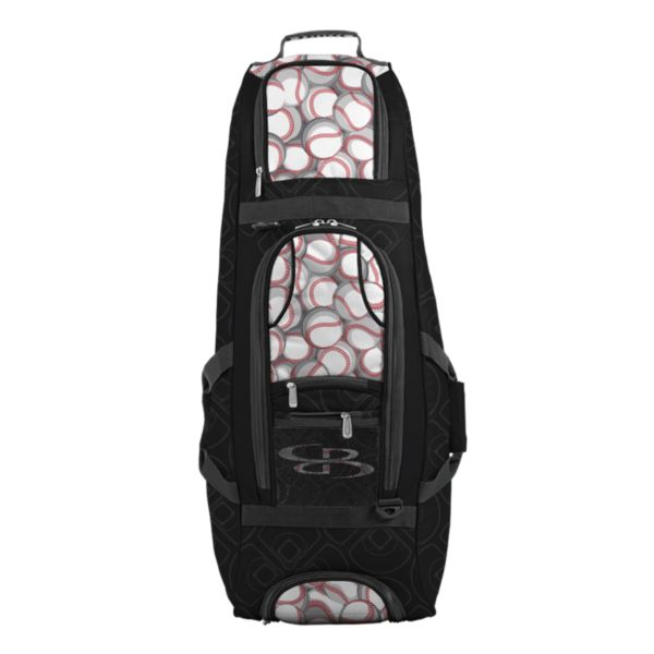 Spartan Rolling Bat Bag 2.0 Baseball Black/Red/White