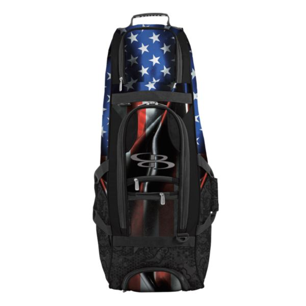 Spartan Rolling Bat Bag 2.0 USA Black Ops Black/Royal Blue/Red