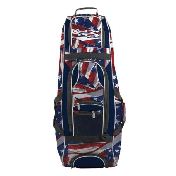 Spartan Rolling Bat Bag 2.0 USA Independence Navy/Red/White