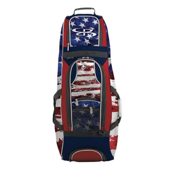 Spartan Rolling Bat Bag 2.0 USA Stars & Stripes Navy/Red/White