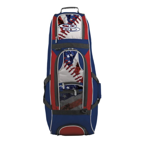Spartan Rolling Bat Bag 2.0 USA Baseball Royal Blue/Red/White