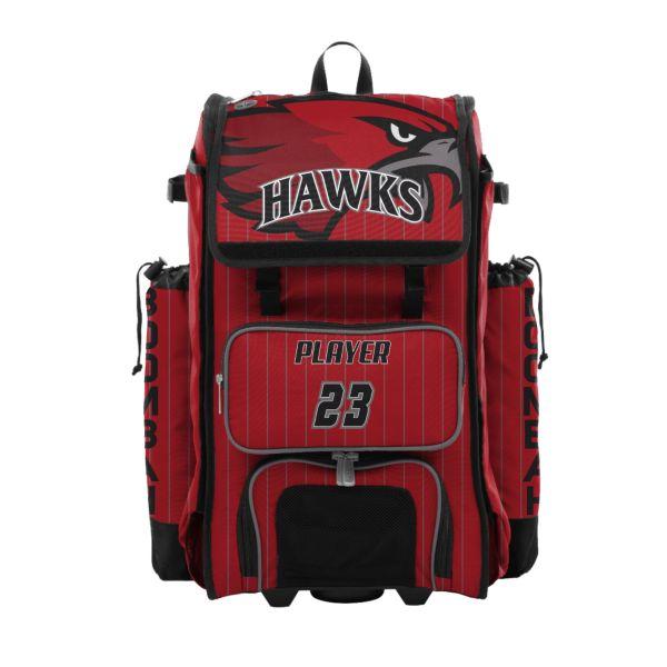 Custom Catcher's Superpack Hybrid Bat Bag