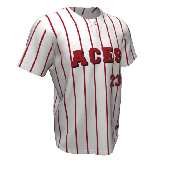 Custom Youth 2 Button Short Sleeve Baseball Jerseys