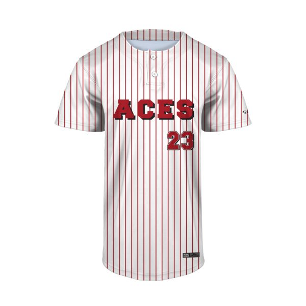Youth Custom 2 Button Short Sleeve Baseball Jerseys