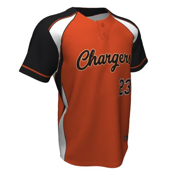 Custom Men's 2 Button Short Sleeve Baseball Jerseys