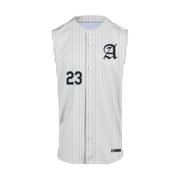 Men's Custom Full Button Sleeveless Baseball Jerseys