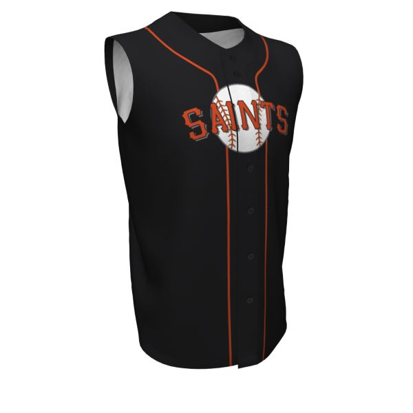 Custom Youth Full Button Sleeveless Baseball Jerseys