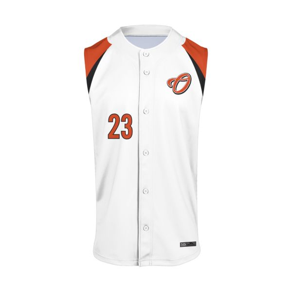 Custom Men's Full Button Sleeveless Baseball Jerseys