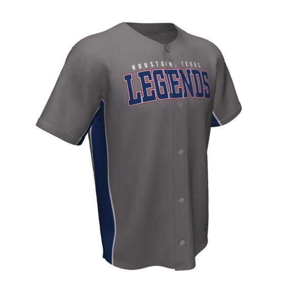 Custom Men's Full Button Short Sleeve Baseball Jerseys