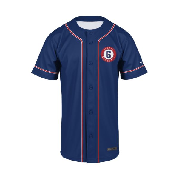 Youth Custom Full Button Short Sleeve Baseball Jerseys