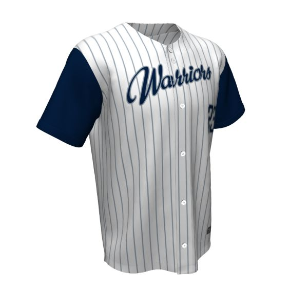 Custom Men's Full Button Short Sleeve Baseball Jerseys