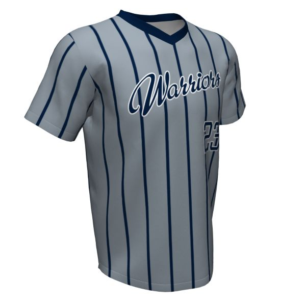 Custom Youth V-Neck Short Sleeve Baseball Shirts