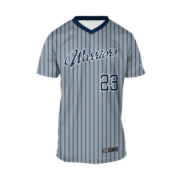 Youth Custom V-Neck Short Sleeve Baseball Shirts