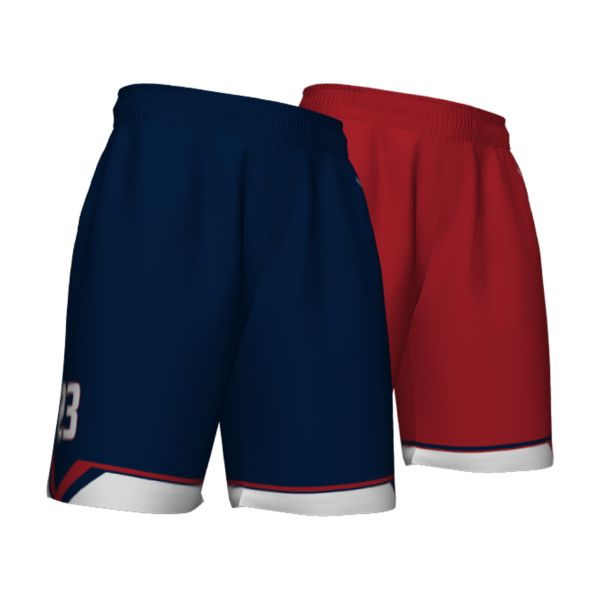 Custom Men's Fadeaway Series Reversible Basketball Shorts