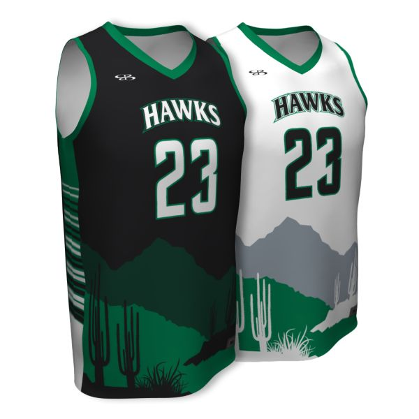 Custom Youth Fadeaway Series Reversible Basketball Jersey