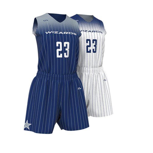 Womens Full Dye, Reversible Basketball Sleeveless Uniform
