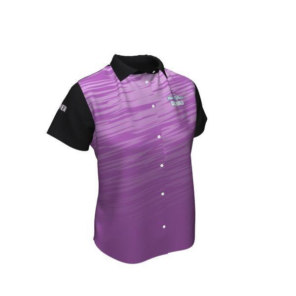 Custom Women's Full Button Bowling Shirt