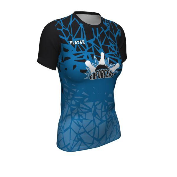 Custom Women's Short Sleeve Bowling Shirt