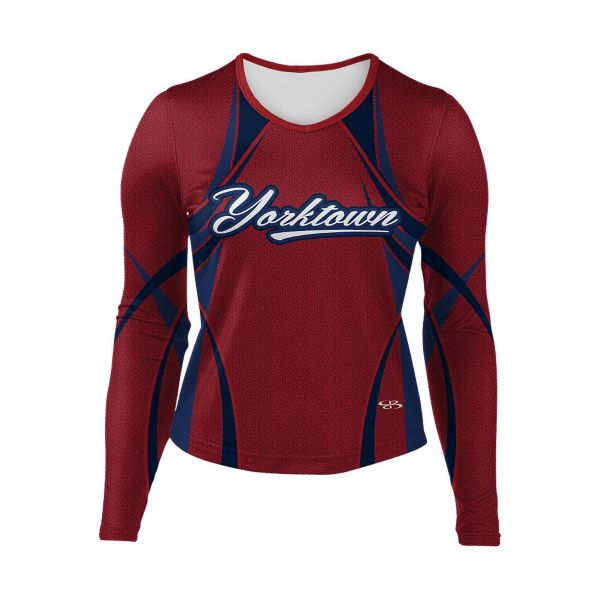 Girls' Full Dye, Cheer Long Sleeve Uniform (FD-3052W)
