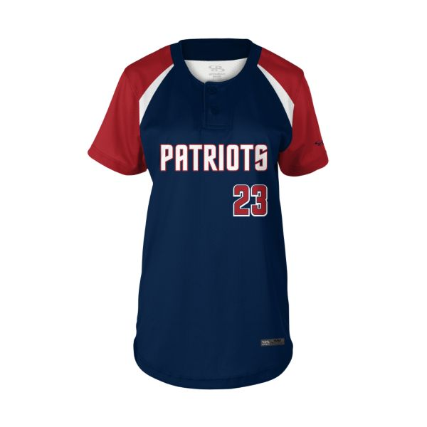 Girls' Custom 2 Button Short Sleeve Fastpitch Jerseys