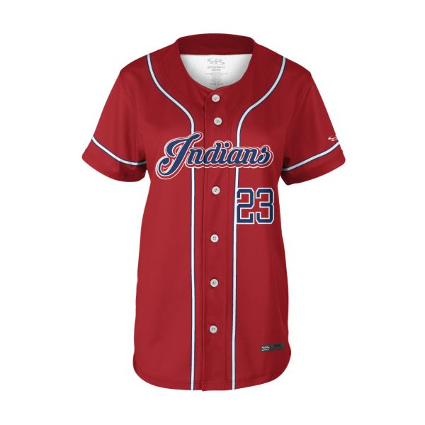 Women's Custom Full Button Short Sleeve Fastpitch Jersey