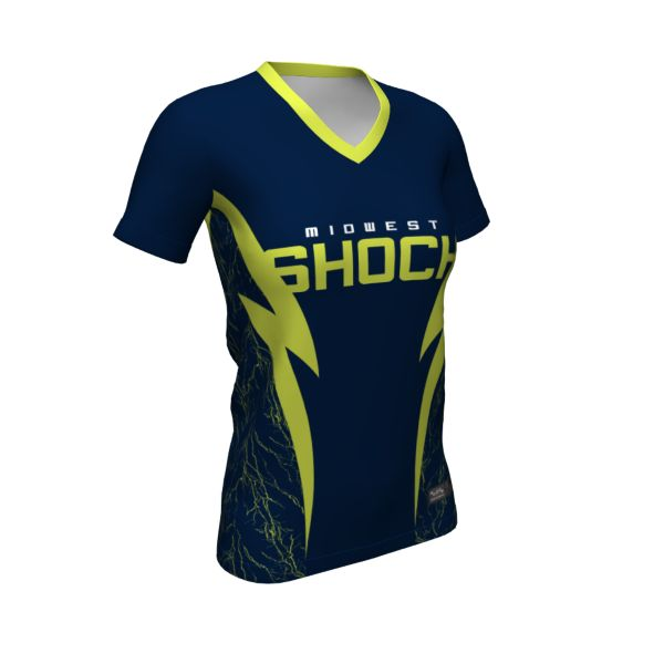 Women's Custom Semi-Fitted V-Neck Fastpitch T-Shirts