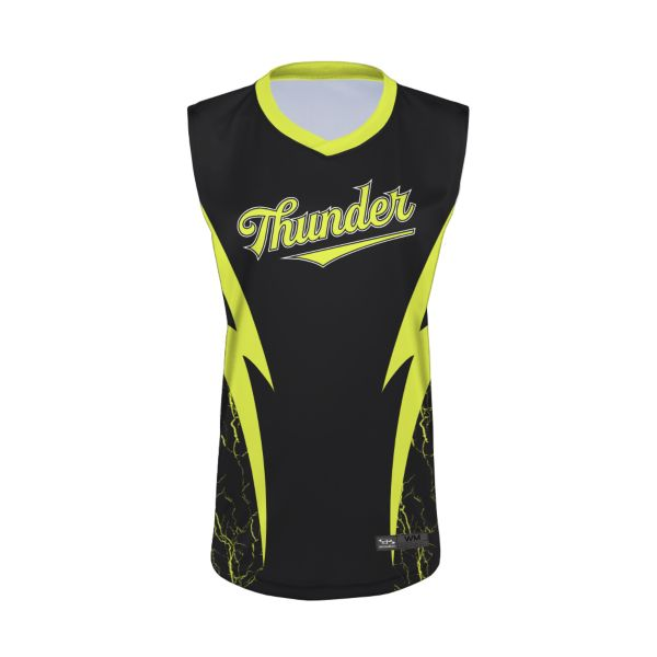 Women's Custom Semi-Fitted Sleeveless V-Neck Jersey