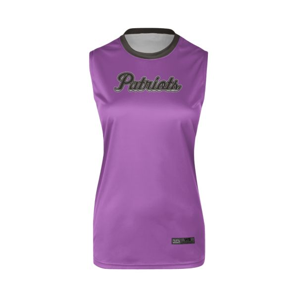 Women's Custom Crew Neck Sleeveless Fastpitch Jerseys