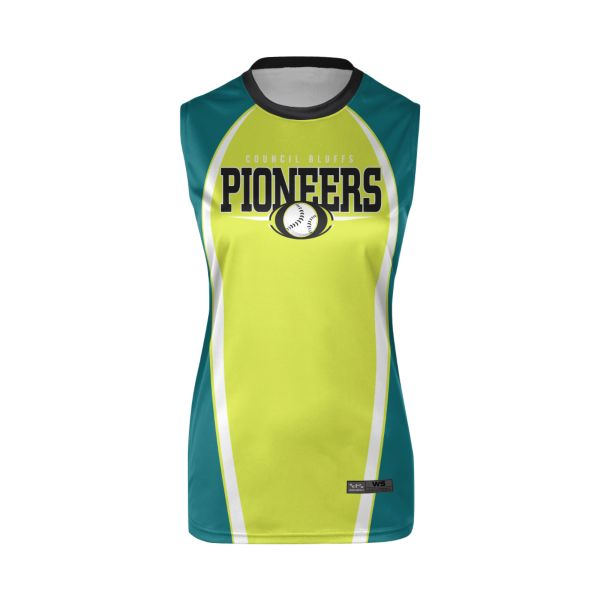 Girls' Custom Crew Neck Sleeveless Fastpitch Jerseys