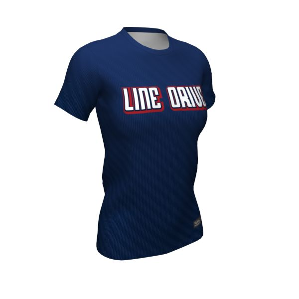 Girls' Custom Semi-Fitted Crew Neck Fastpitch Tees